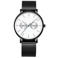Week And Month Function Mesh Band Luminous Chronograph Watch For Men